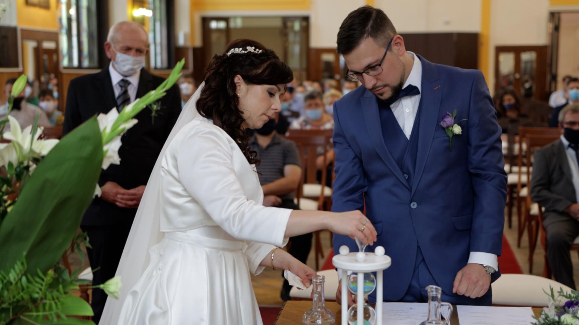 Gracza Zoltán esküvője Kecskeméten, a Hotel Három Gúnár Rendezvényházban szertartás